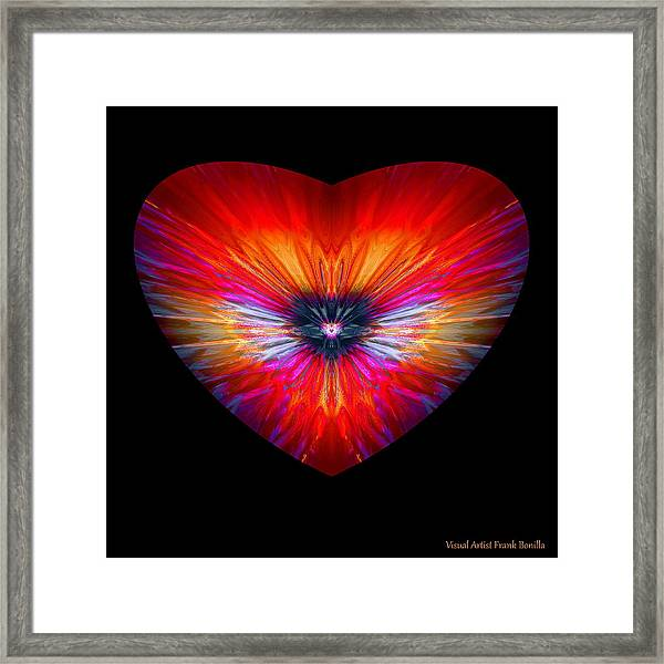 Framed Print featuring the digital art Hearts #26 by Visual Artist Frank Bonilla
