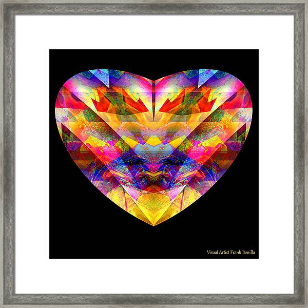 Framed Print featuring the digital art Hearts #27 by Visual Artist Frank Bonilla