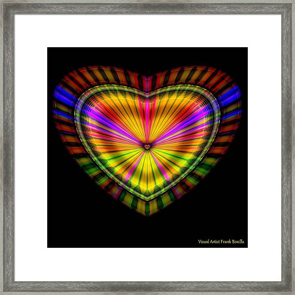 Framed Print featuring the digital art Hearts #9 by Visual Artist Frank Bonilla