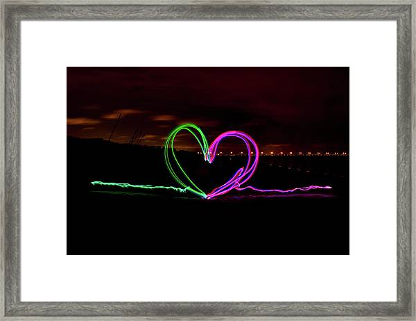 Hearts In The Night Framed Print