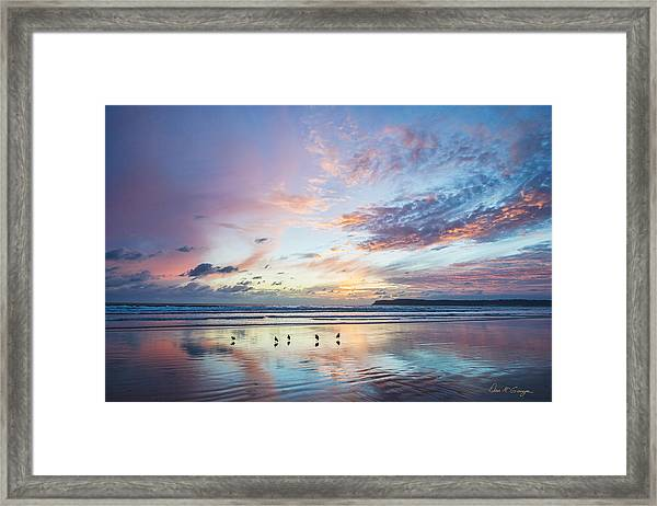 Hearts In The Sky Framed Print