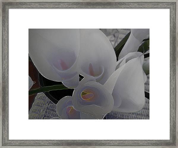 Heather's Flowers Framed Print