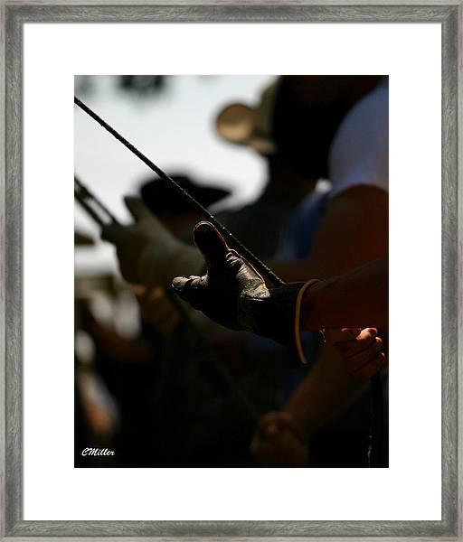 Heatin Up The Rosin.. Framed Print by Carol Miller