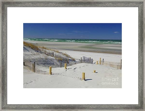 Heaven At Mayflower Beach Framed Print