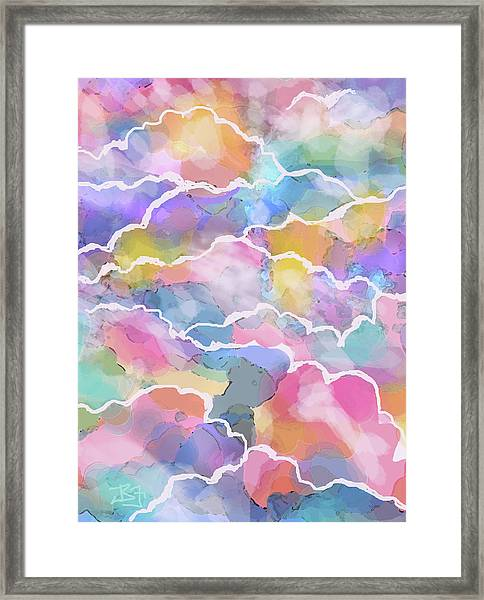 Heavenly Clouds Framed Print