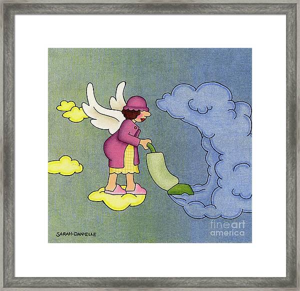 Heavenly Housekeeper Framed Print