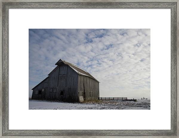 Framed Print featuring the photograph Heavens Barn Dusting by Dylan Punke
