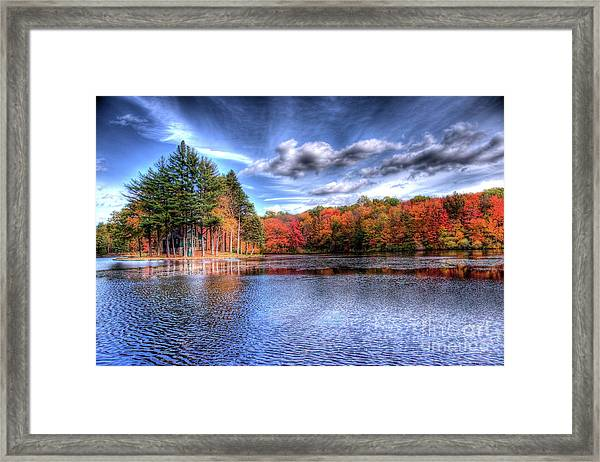 Heaven's Blue Framed Print