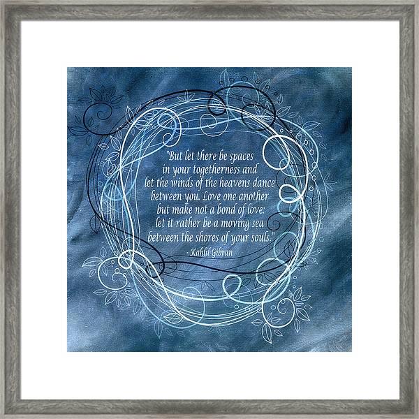 Heavens Dance Framed Print