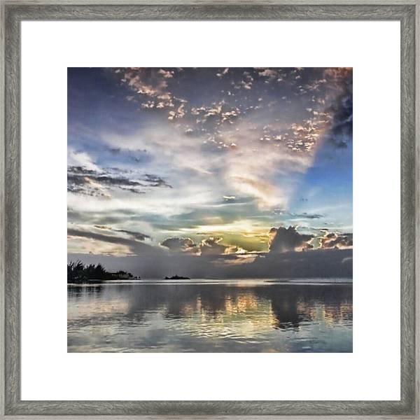 Heaven's Light - Coyaba, Ironshore Framed Print
