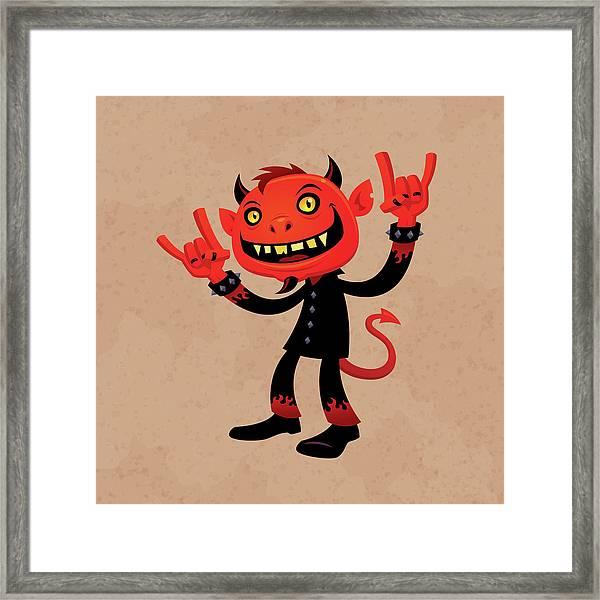 Heavy Metal Devil Framed Print