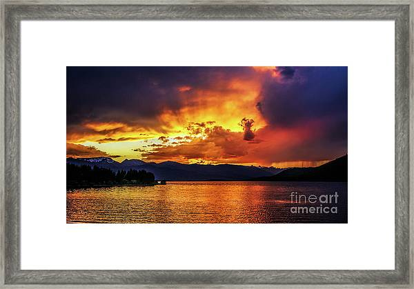 Hebgen Lake Sunset Framed Print