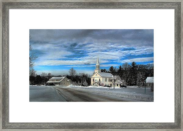 New Snow On Hebron Common Framed Print