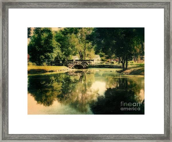 Heckscher Park Pond, Huntington Ny Framed Print