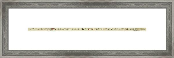 Hegassen Scroll 36 Parts Framed Print