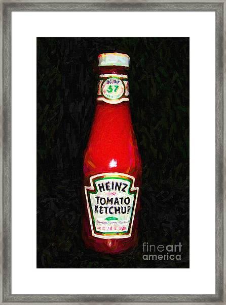 Heinz Tomato Ketchup Framed Print