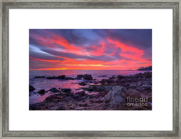 Heisler Park Tide Pools At Dusk Framed Print