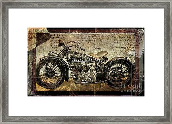 Hell On Wheels Framed Print
