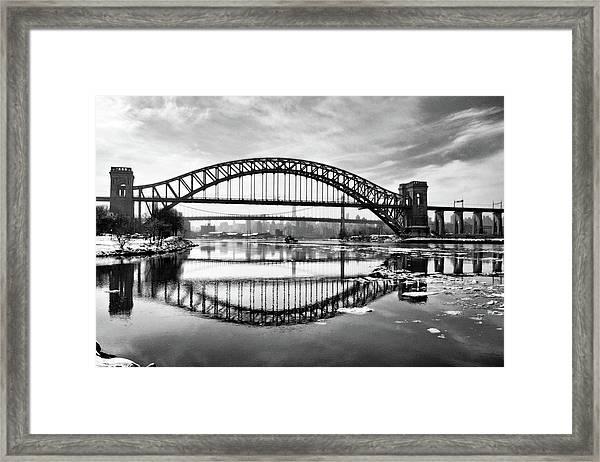 Hellgate Full Reflection Framed Print