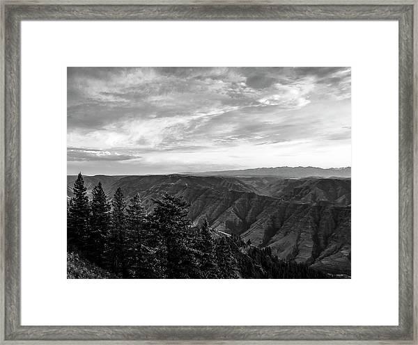 Hells Canyon Drama Framed Print