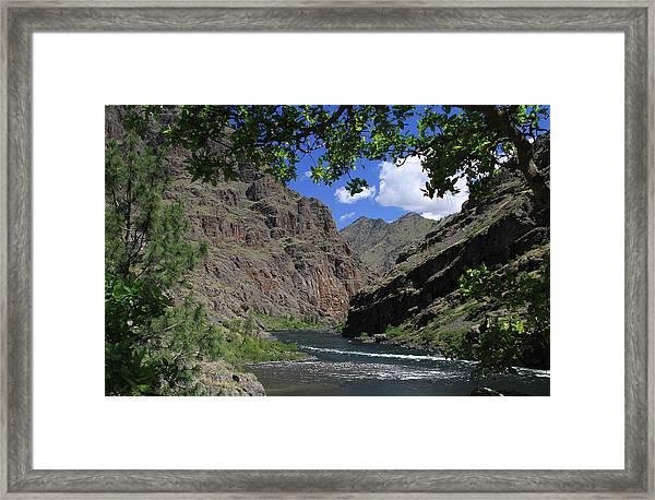 Hells Canyon Snake River Framed Print