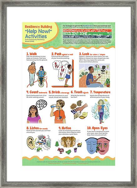 Help Now Activities Framed Print by Heidi Hanson