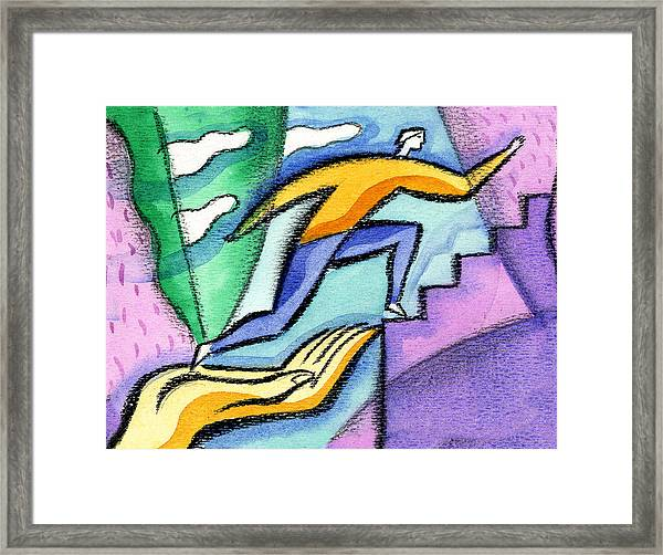 Helping Hand And Career Framed Print