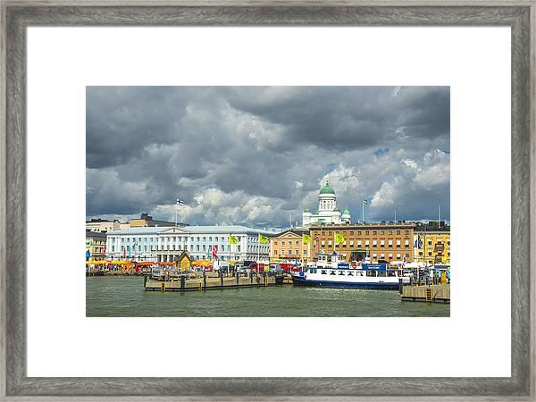 Helsinki, South Harbor Framed Print