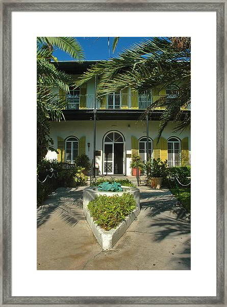 Hemingways House Key West Framed Print