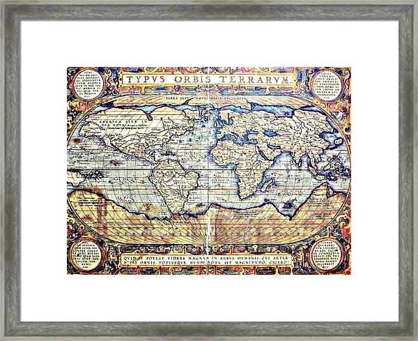 Hemisphere World  Framed Print