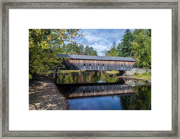 Hemlock Covered Bridge Framed Print