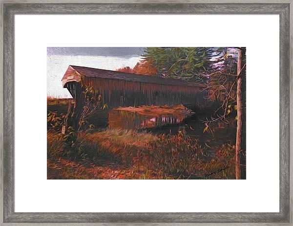 Hemlock Covered Bridge Framed Print