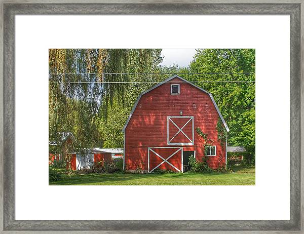 0018 - Henderson Road Red I Framed Print
