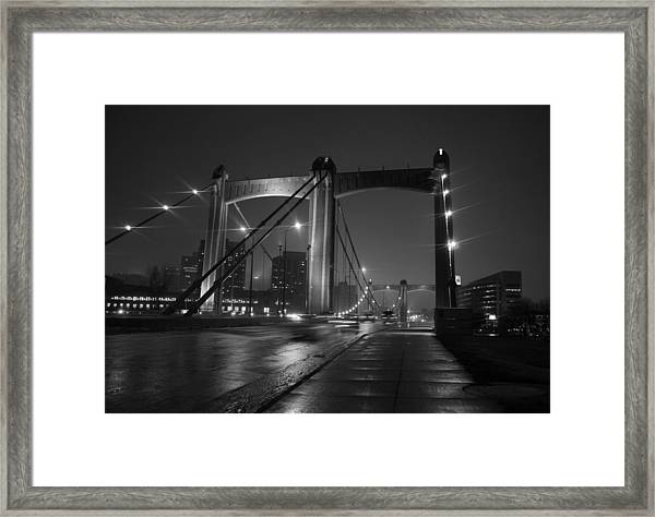 Hennepin Avenue Bridge Framed Print by Heidi Hermes