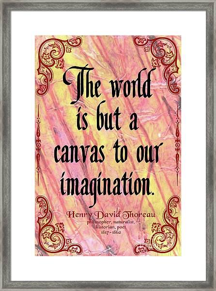 Henry David Thoreau On Imagination, Version 2 Framed Print
