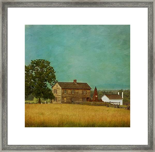 Henry House At Manassas Battlefield Park Framed Print
