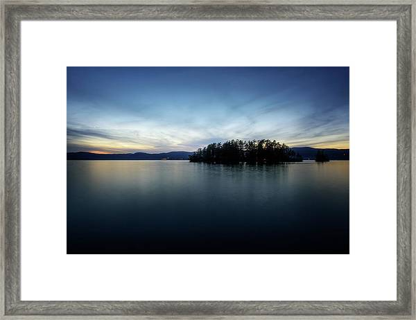 Hens And Chickens Islands Framed Print