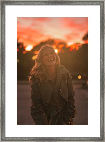 Her Laugh Framed Print