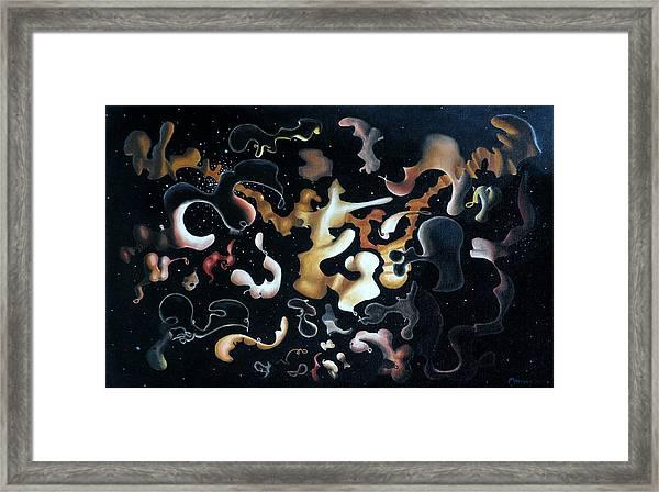 Herculean Construction Framed Print