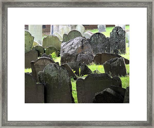 Here Lyeth Framed Print