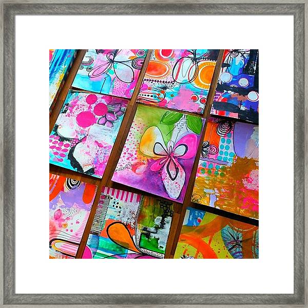 Heres A Little Sample Of Some Of The Framed Print by Robin Mead