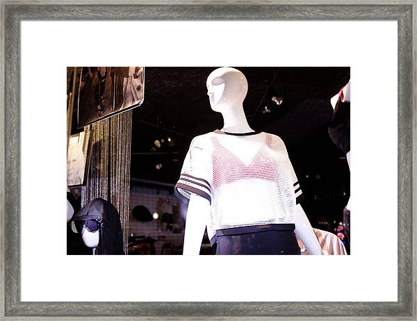Here's Looking At You In Downtown Winter Park Florida Framed Print