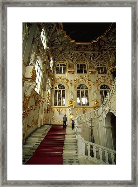 Hermitage Staircase Framed Print