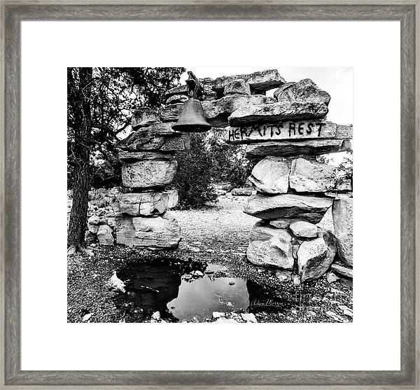 Hermit's Rest, Black And White Framed Print
