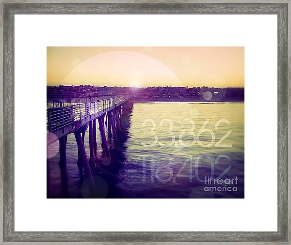 Hermosa Beach California Framed Print