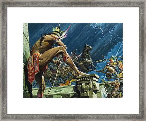 Hernando Cortes Framed Print
