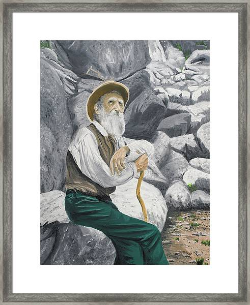 Framed Print featuring the painting Hero Of The Land by Kevin Daly