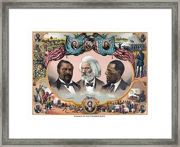 Heroes Of African American History - 1881 Framed Print