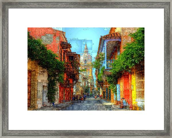 Heroic City, Cartagena De Indias Colombia Framed Print
