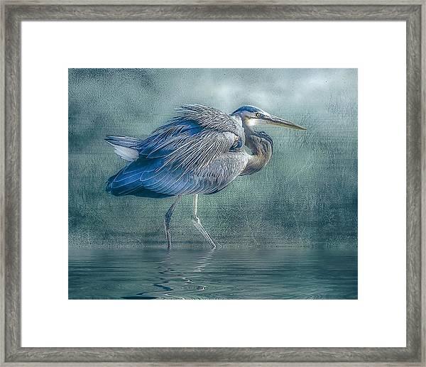 Heron's Pool Framed Print